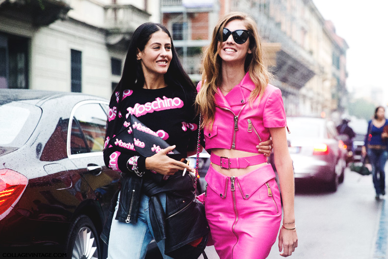 Milan_Fashion_Week_Spring_Summer_15-MFW-Street_Style-Chiara_Ferragni-Gilda_Grazia-Moschino_Barbie-